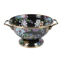 Mackenzie Childs Flower Market Colander Small Black