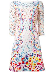 Peter Pilotto Printed Boat Neck Dress White
