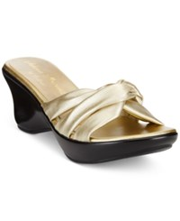 Callisto Athena Alexander By Gaylenn Wedge Sandals Women's Shoes Champagne