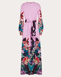 Valentino Printed Cady Jumpsuit Multicolored Silk 100