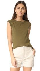 Vince Shirttail Tank Olive