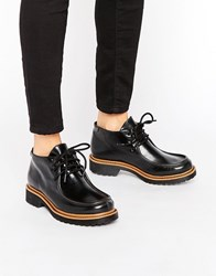 Monki Chunky Flat 90S School Shoe Black