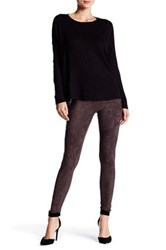 Wild Pearl Faux Suede Legging Gray