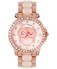 Betsey Johnson Women's Blush And Rose Gold Tone Bracelet Watch 40Mm Bj00246 10