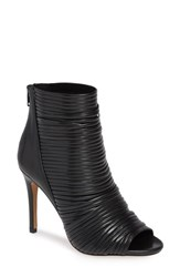 Bcbgmaxazria Bcbg Elle Open Toe Bootie Black Faux Leather