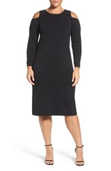 Eliza J Plus Size Women's Cold Shoulder Stretch Knit Sheath Dress