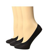 Hue Perfect Edge Liner 3 Pack Black Women's Crew Cut Socks Shoes