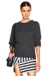 Mason By Michelle Mason Open Back Sweater In Gray