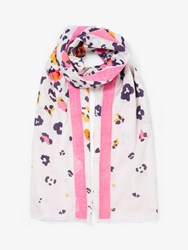 John Lewis Collection Weekend By Animal Print Cotton Scarf Multi