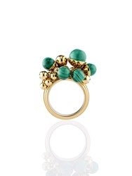 Shanghai Tang Beaded Deco Ring Gold