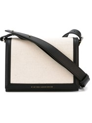Victoria Beckham Classic Flap Shoulder Bag Nude And Neutrals