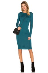 Blq Basiq Long Sleeve Midi Dress Blue