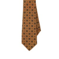 Sartorio Floral Silk Necktie Orange
