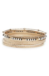 Treasure And Bond Women's Set Of Five Bangles Neutral Multi Gold