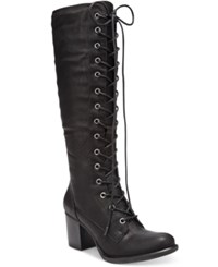 American Rag Lorah Lace Up Boots Only At Macy's Women's Shoes Black
