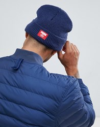 Puma Ribbed Classic Beanie In Navy 02170902