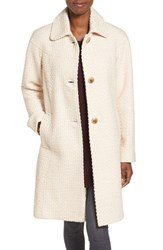 Gallery Women's Basket Weave Three Quarter Coat Oatmeal