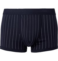 Dolce And Gabbana Pinstriped Cotton Boxer Briefs Navy