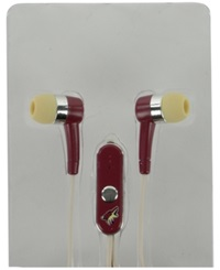 Mizco Arizona Coyotes Earbuds Team Color