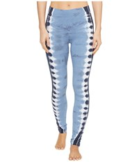 Hard Tail High Rise Ankle Leggings Electric Side Stripe 1 Women's Casual Pants Blue