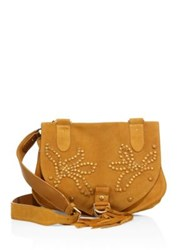 See By Chloe Collins Studded Suede Messenger Bag Passito Black