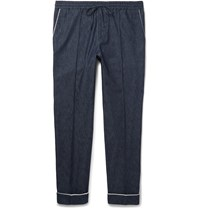 Valentino Slim Fit Drawstring Denim Trousers Blue
