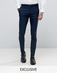 Only And Sons Super Skinny Suit Trousers In Navy Navy