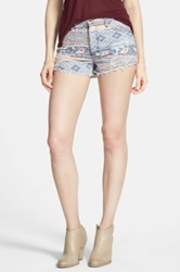 Fire Print Cutoff Shorts Juniors Multi