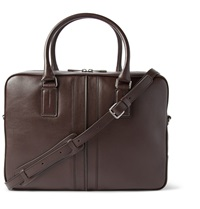 Tod's Grained Leather Briefcase Brown