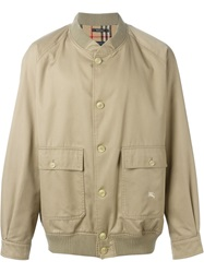 Burberry Vintage Classic Bomber Jacket Nude And Neutrals