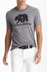Dilascia California Republic Bear Tee Gray