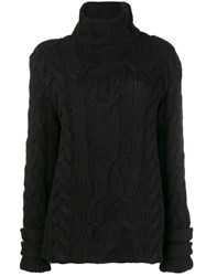 Michel Klein Chunky Knit Jumper Black