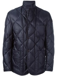 Moncler 'Herminier' Quilted Jacket Blue