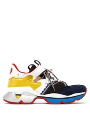 Christian Louboutin Red Runner Suede And Mesh Trainers Multi