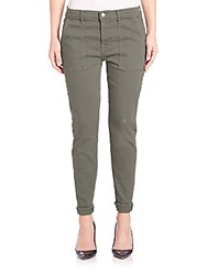 7 For All Mankind Military Pant With Rolled Hem Military Green