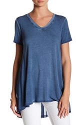 Cable And Gauge Enzyme Wash Mesh Back Tee Blue