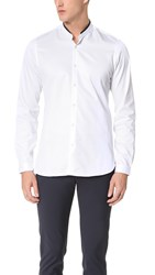 The Kooples Grosgrain Officer Collar Shirt White