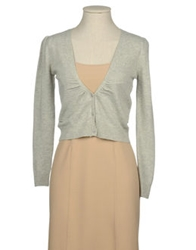 Hanita Cardigans Light Grey