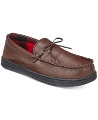 Club Room Men's Slippers Mark Suede Moccasins Brown