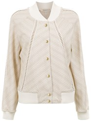 Martha Medeiros Martina Bomber Jacket Neutrals