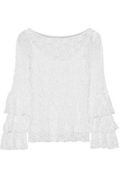 Bailey 44 Woman Tiered Lace Top White