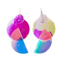 No 13 Let There Be Light Earrings 3 Neutrals Pink Purple