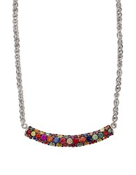 Effy Red Box Sterling Silver Multi Colored Sapphire Necklace Multicolored Sapphire