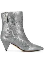 The Seller Pointed Metallic Sheen Boots 60