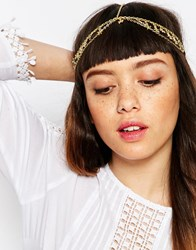 Asos Feather Charm Crown Headband Gold