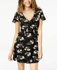 American Rag Juniors' Ruffled Fit And Flare Dress Created For Macy's Classic Black Combo