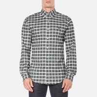 Polo Ralph Lauren Men's Long Sleeve Checked Stretch Oxford Shirt Green White Green White