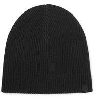 Rag And Bone Ace Ribbed Cashmere Beanie Black