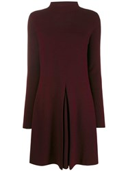 Allude Shift Dress Red