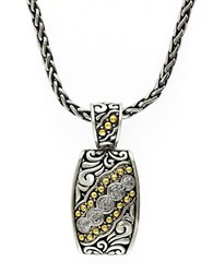 Effy Balissima 18K Yellow Gold And Sterling Silver Diamond Pendant Necklace Silver Gold
